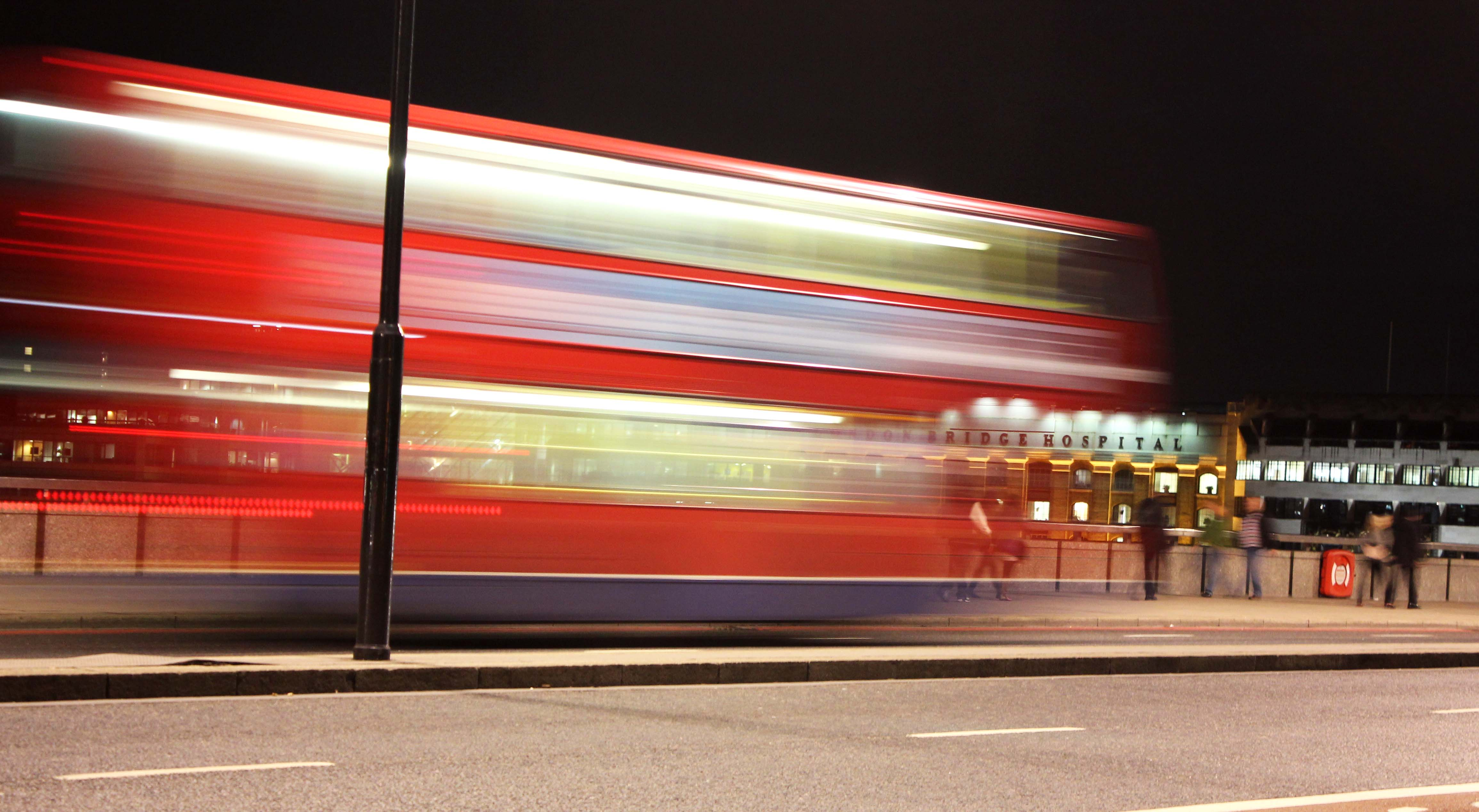 London Bus Blur