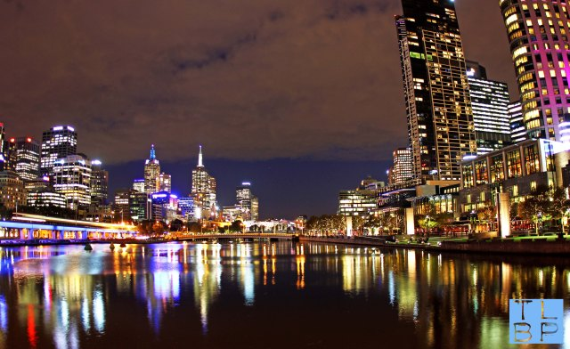 Melbourne Skyline by Night