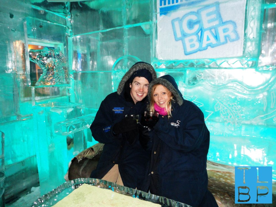 Chilling in the Ice Bar in Queenstown