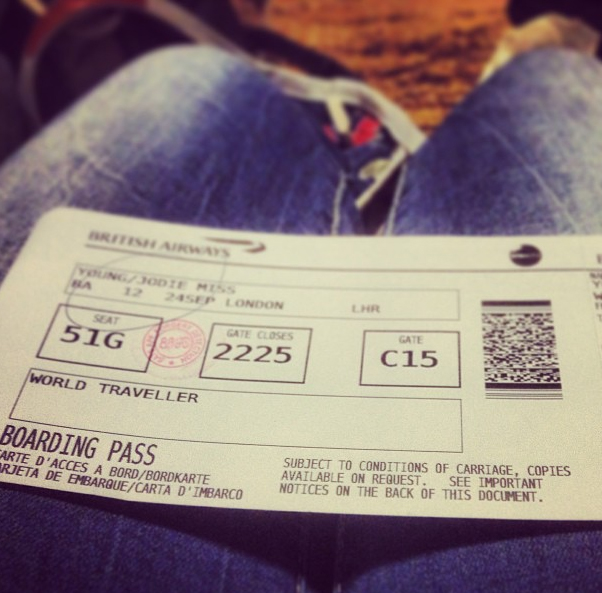 My Plane Ticket Home