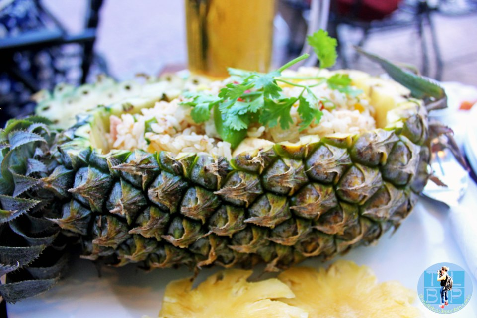 My fried rice in a pineapple
