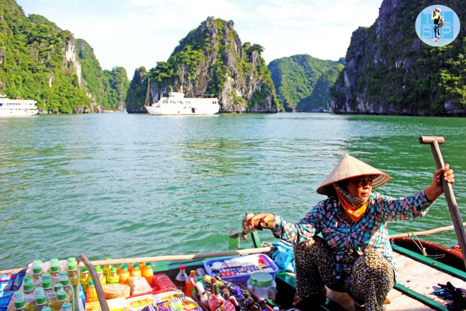Locals earning a living in Halong Bay