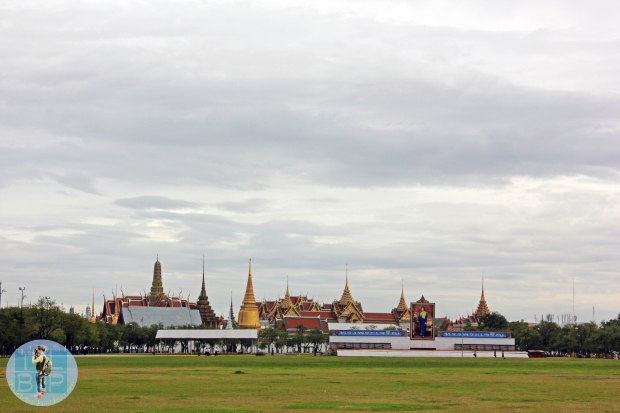The Grand Palace from afar.