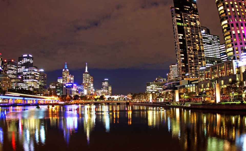 Melbourne City Night Sky - Our home for four and a half months and a view I saw every night after work.