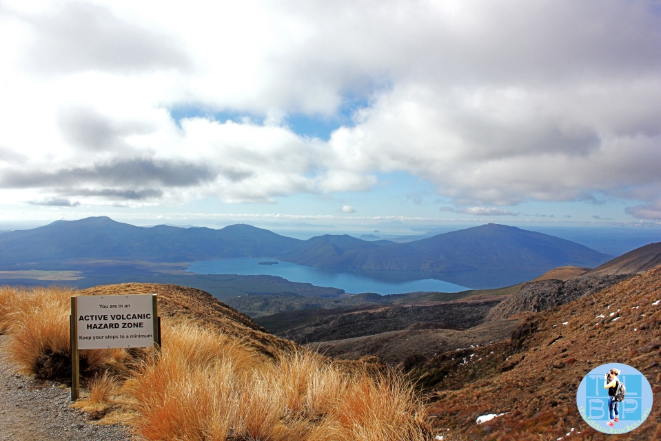 Walking down the side of Mount Tongariro