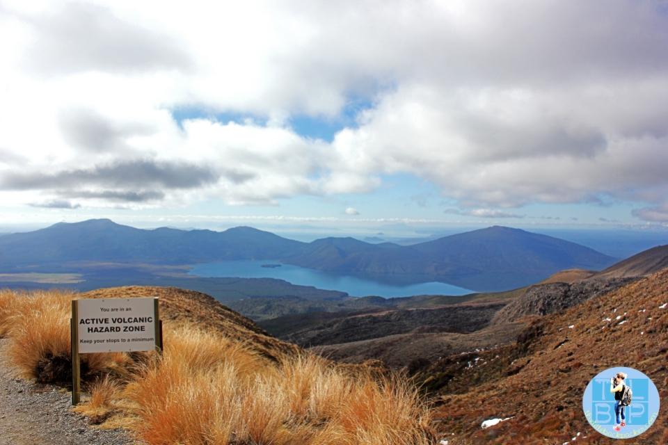 Walking down the side of Mount Tongariro