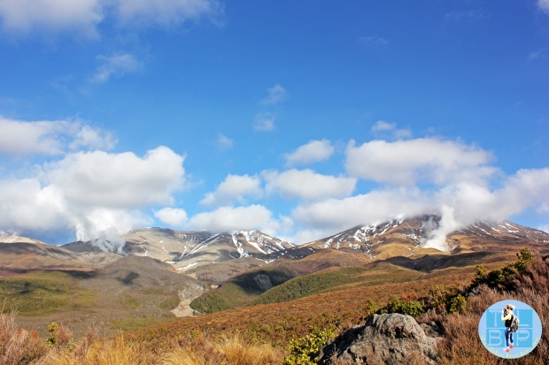Looking back up at Mount Tongariro