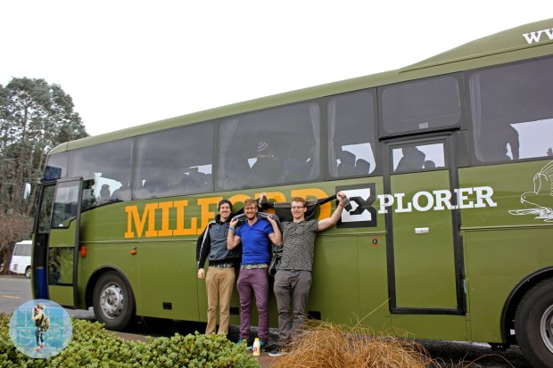 The boys thinking they are cool in front of our 'Milf'ord Explorer Bus