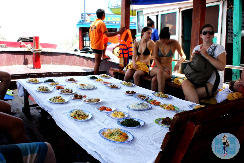 Our food on a boat in Nha Trang