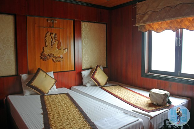 Our room on the Halong Bay Junk Cruise
