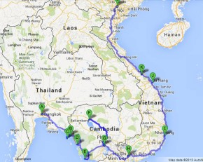 bangkok to hanoi map