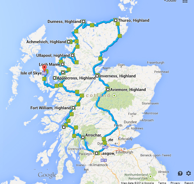 A Scottish Roadtrip Route Cost Highlights And More