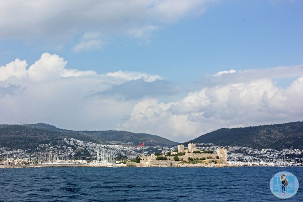 Bodrum Castle from afar