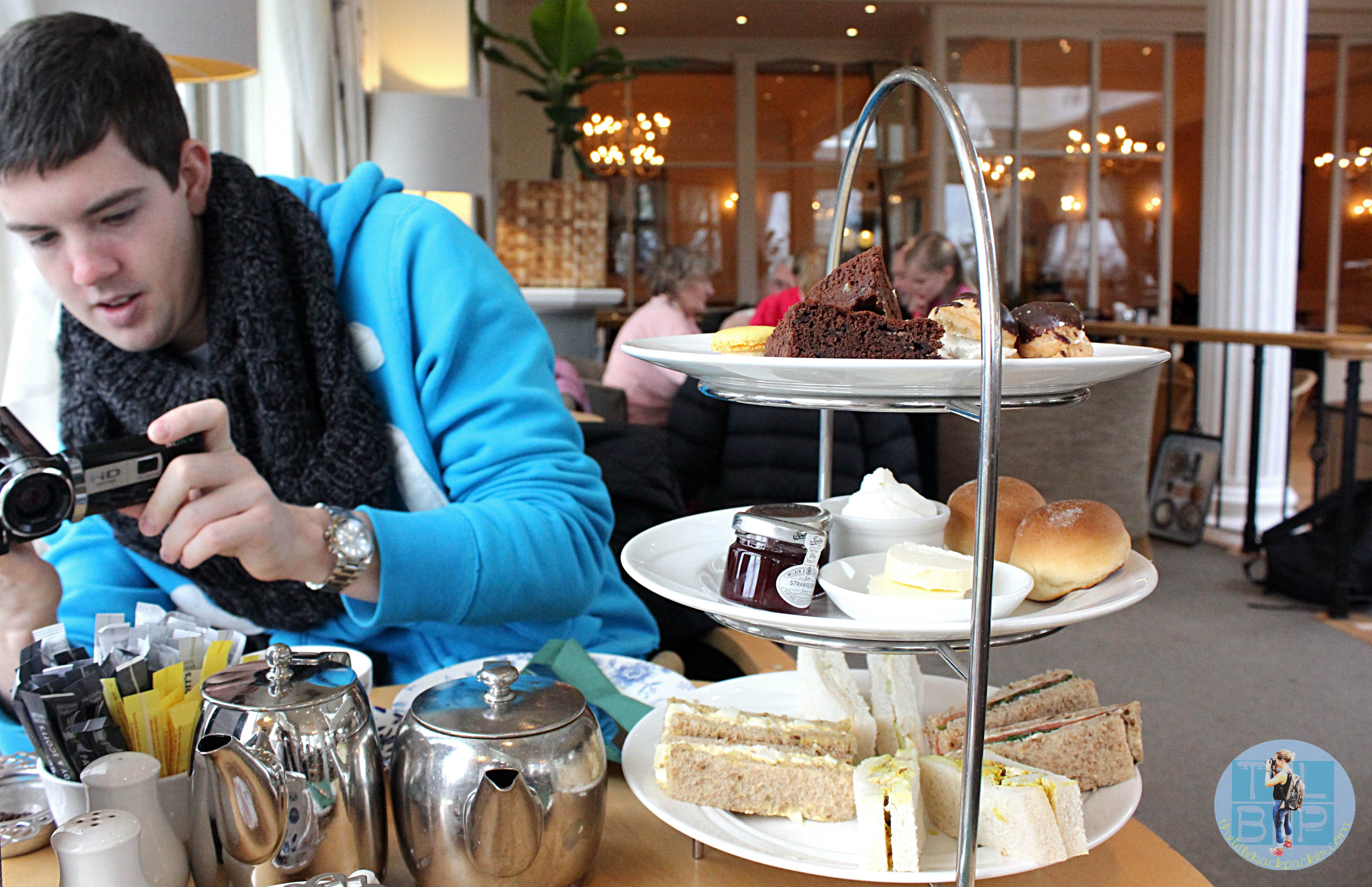 afternoon tea at crieff hydro the little backpacker
