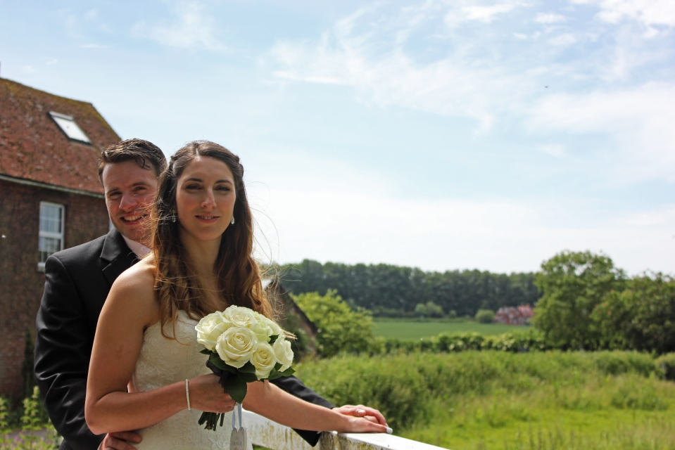 One of the photos from the wedding I photographed this month.