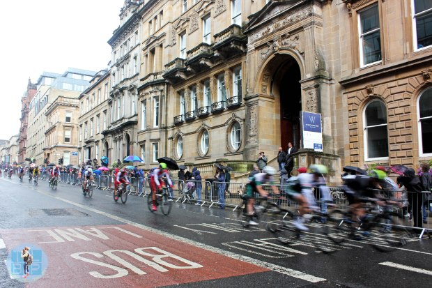 The men's road race around the city